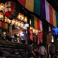 北国街道木之本宿の街道沿いには、地蔵院、酒蔵、醤油蔵などが立ち並ぶ