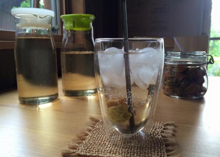 自家製梅シロップで梅ジュース