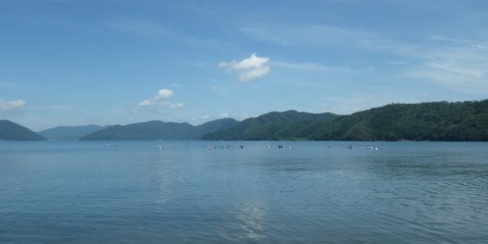 琵琶湖の中をのぞいてみると…